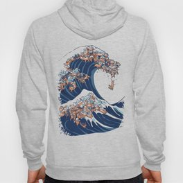 The Great Wave of Dachshunds Hoody