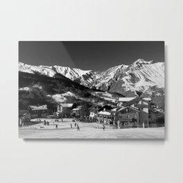 Saint Martin de Belleville 3 Valleys French Alps France Metal Print