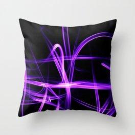 Abstract Purple Light Effect Throw Pillow