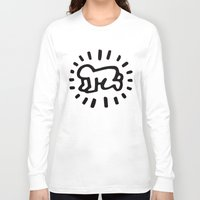 keith haring Long Sleeve T-shirts featuring Keith Haring: Radiant Baby from Icons series, 1990 by cvrcak