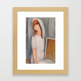 "Amedeo Modigliani ""Jeanne Hebuterne"" 1919 Framed Art Print"