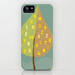 Alphapet Tree iPhone Case