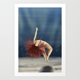 Mermaids are coming Art Print