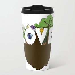 Love for Nature in Negative Space Travel Mug