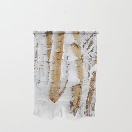 Snow Covered Birch Trees Wall Hanging