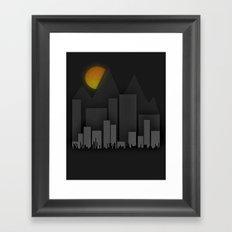 Heat Behind The Mountains Framed Art Print