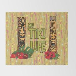 Tiki Pole Art #1 Throw Blanket
