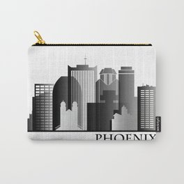 Black and White Phoenix Skyline Carry-All Pouch