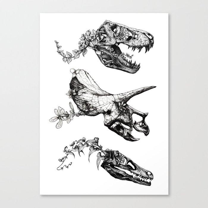 Jurassic Bloom. Leinwanddruck