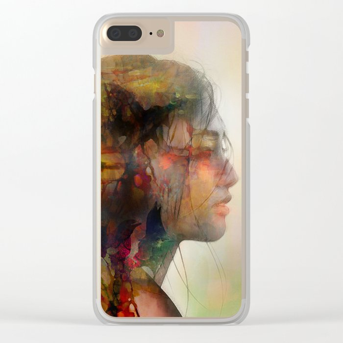 Girl of April Clear iPhone Case