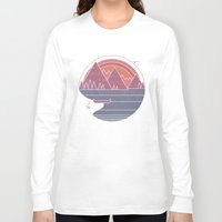 the mountains are calling Long Sleeve T-shirts featuring The Mountains are Calling by Rick Crane