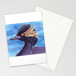 Grebe bird Stationery Cards