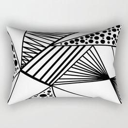 Modern abstract black white geometric stripes polka dots Rectangular Pillow