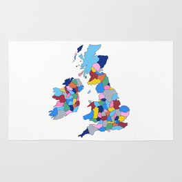 England, Ireland, Scotland & Wales Rug