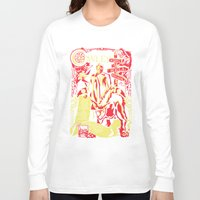 crowley Long Sleeve T-shirts featuring Crowley by Tracey Gurney