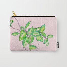pink house plant Carry-All Pouch
