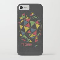 techno iPhone & iPod Cases featuring Techno by Sitchko Igor