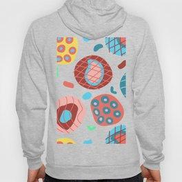 Colorful Irregular Shapes Circles Lines and Dots Hoody