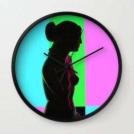Venus De Milo (Color Bars) Wall Clock