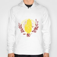 mockingjay Hoodies featuring The Mockingjay by 126pixels