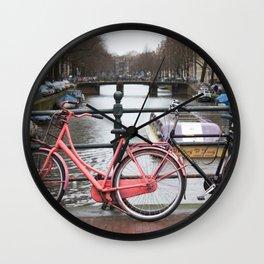 Amsterdam canal 5 Wall Clock