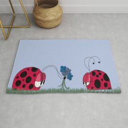Flowers For My Love Rug
