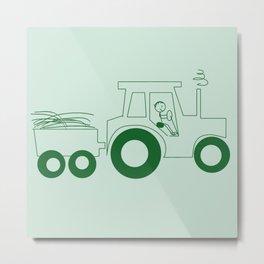 Happy Farmer [TRACTOR] Metal Print
