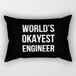 World's Okayest Engineer (Black) Rectangular Pillow