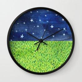 Grass & Stars Wall Clock