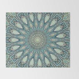 Eye of the Needle Mandala Art Throw Blanket