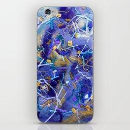 Purple Constellation Fibre Painting iPhone Skin