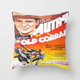 Vintage poster - The Old Corral Throw Pillow