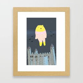 The Ghost Bear of The Tower Of London Framed Art Print