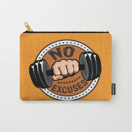 No Excuses Gym Fitness Motivational Quote Carry-All Pouch