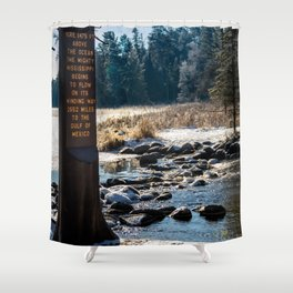 Mississippi Headwaters in December Shower Curtain