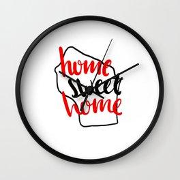 Home Sweet Home Wisconsin Wall Clock