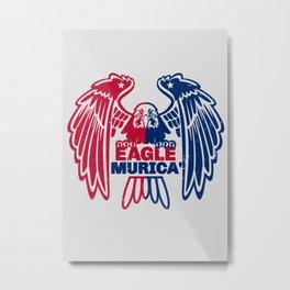 Eagle Murica Metal Print