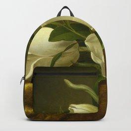 Magnolias on Gold Velvet Cloth Backpack