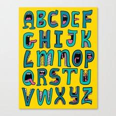 Loud Mouth Alphabet Canvas Print