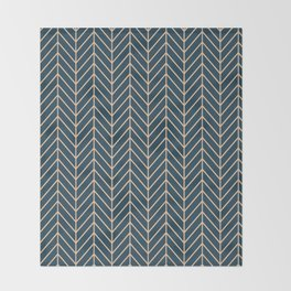 Lines Blue Background Throw Blanket