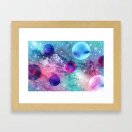 Vaporwave Pastel Space Mood Framed Art Print