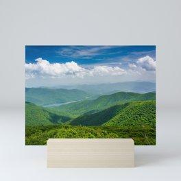 A Splendid View of the Blue Ridge Mountains Mini Art Print
