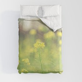 Field of yellow flowers Comforters