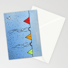 Three Little Tents Went Camping Stationery Cards
