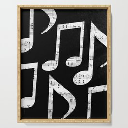 Music notes 2 Serving Tray