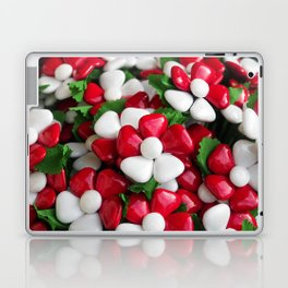 Flowers with sugared almonds as petals. Laptop & iPad Skin