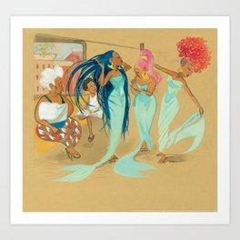 Julián and the Mermaids Art Print