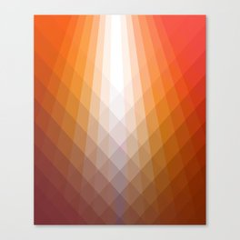 Illumination in Red Canvas Print