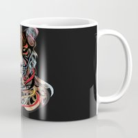 tiger Mugs featuring Tiger by Felicia Cirstea