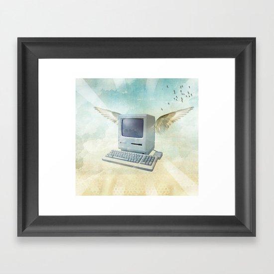 flying Mac Framed Art Print